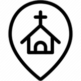 church and location icon